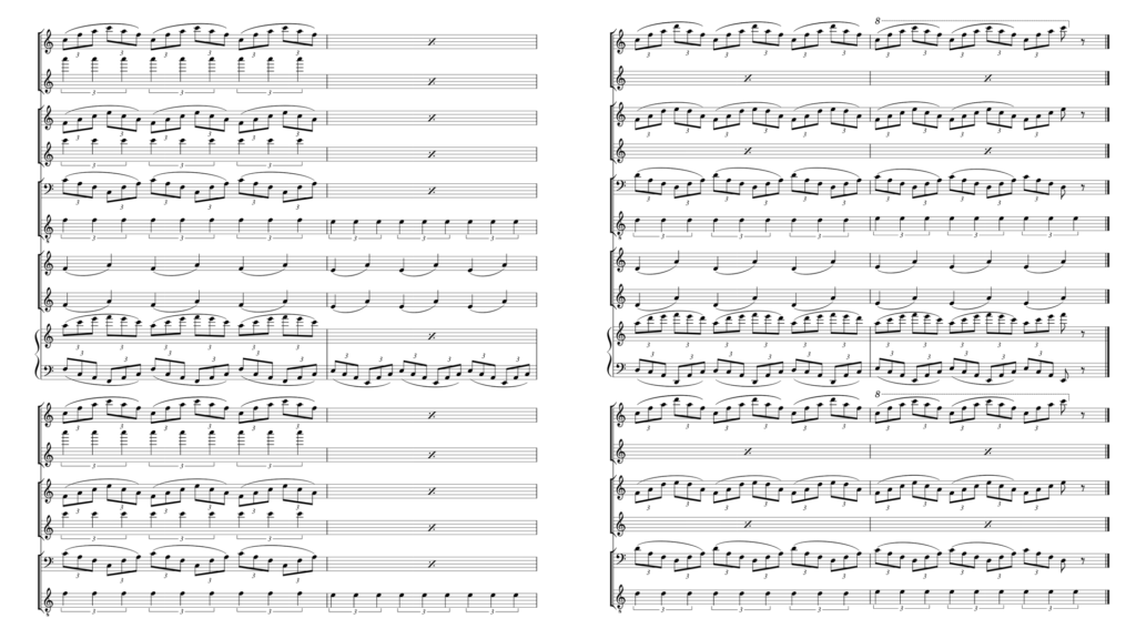 Musical partition | Movement from Floe by Philip Glass